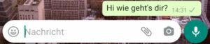 WhatsApp-Nachricht: versendet