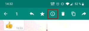 WhatsApp-Nachricht: Details & Markieren